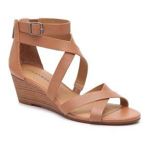 Lucky Brand Jimena Wedge Sandal NEW $60